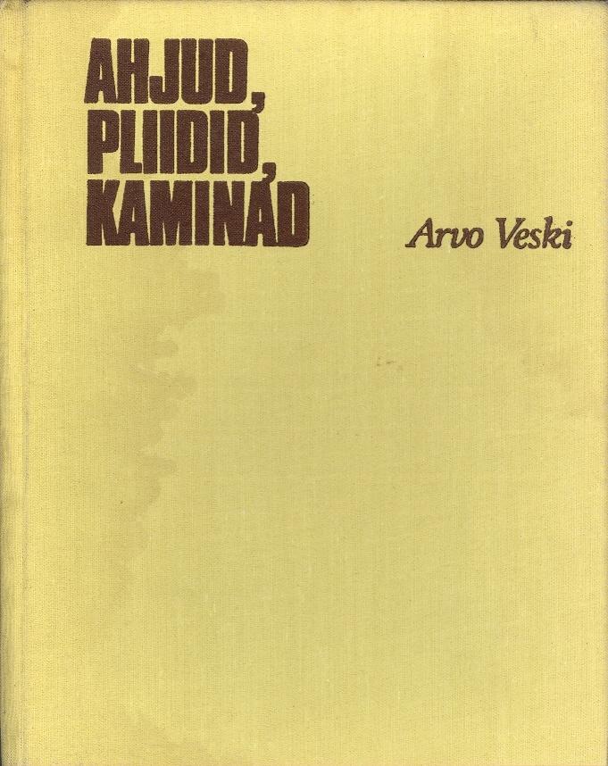 """Trükise """"Ahjud, pliidid, kaminad"""" kaanepilt. Cover picture of """"Ahjud, pliidid, kaminad""""."""