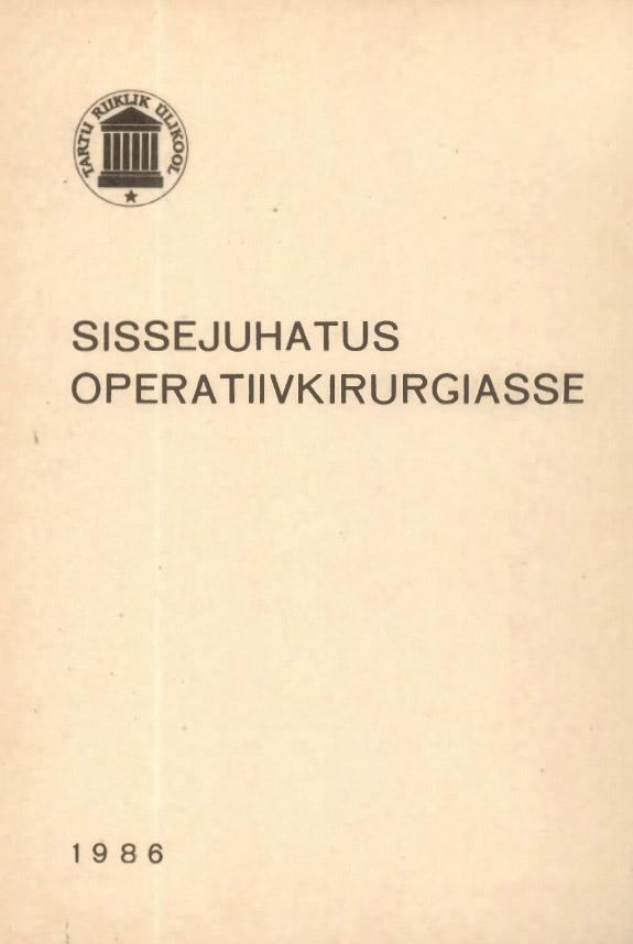 Sissejuhatus operatiivkirurgiasse