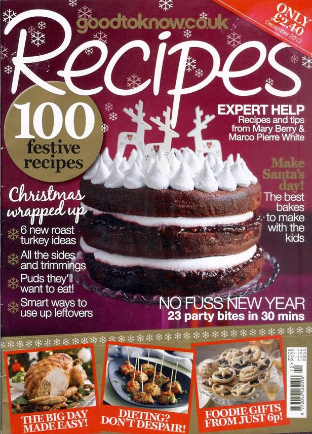 "Trükise ""Good to Know Recipes, December 2013 100 festive recipes"" kaanepilt. Cover picture of ""Good to Know Recipes, December 2013 100 festive recipes""."