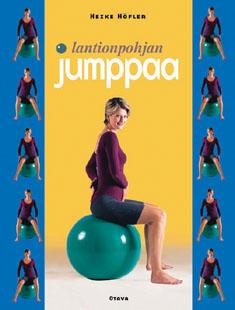 """Trükise """"Lantionpohjan jumppaa"""" kaanepilt. Cover picture of """"Lantionpohjan jumppaa""""."""