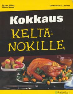"""Trükise """"Kokkaus keltanokille"""" kaanepilt. Cover picture of """"Kokkaus keltanokille""""."""