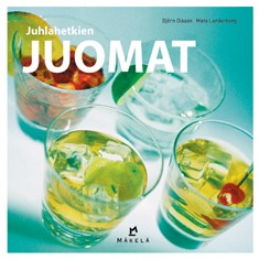 "Trükise ""Juhlahetkien juomat"" kaanepilt. Cover picture of ""Juhlahetkien juomat""."
