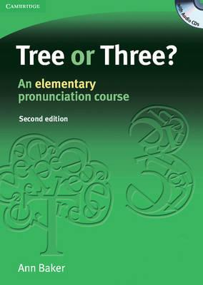 "Trükise ""Tree or Three? An Elementary Pronunciation Course"" kaanepilt. Cover picture of ""Tree or Three? An Elementary Pronunciation Course""."