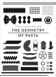 "Trükise ""The Geometry of Pasta"" kaanepilt. Cover picture of ""The Geometry of Pasta""."