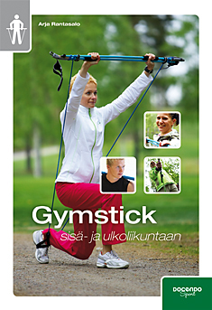 """Trükise """"Gymstick sisä- ja ulkoliikuntaan"""" kaanepilt. Cover picture of """"Gymstick sisä- ja ulkoliikuntaan""""."""