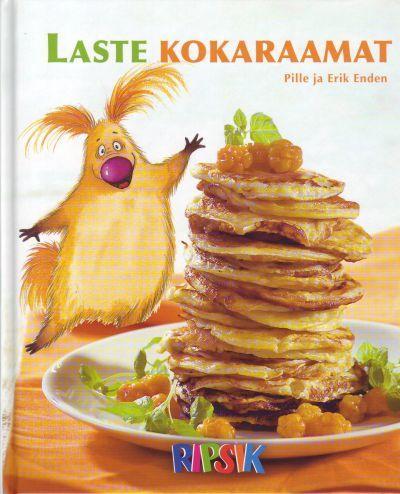 """Trükise """"Laste kokaraamat"""" kaanepilt. Cover picture of """"Laste kokaraamat""""."""