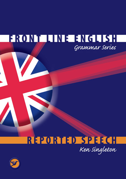"Trükise ""Reported speech Kaudne kõne"" kaanepilt. Cover picture of ""Reported speech Kaudne kõne""."