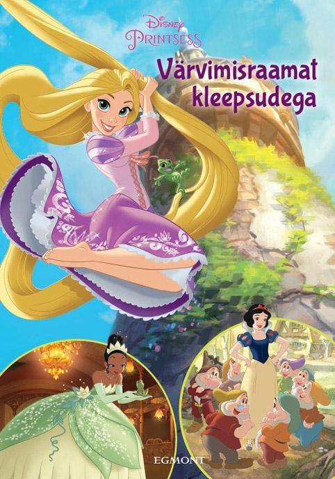 Disney printsess värvimisraamat kleepsudega