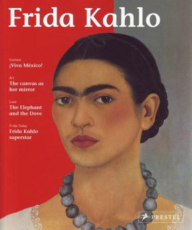 "Trükise ""Frida Kahlo"" kaanepilt. Cover picture of ""Frida Kahlo""."