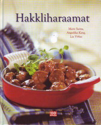 """Trükise """"Hakkliharaamat"""" kaanepilt. Cover picture of """"Hakkliharaamat""""."""