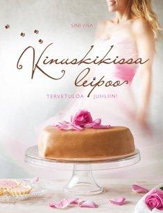 """Trükise """"Kinuskikissa leipoo Tervetuloa juhliin!"""" kaanepilt. Cover picture of """"Kinuskikissa leipoo Tervetuloa juhliin!""""."""
