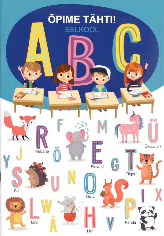 Õpime tähti! Eelkool ABC kaanepilt – front cover