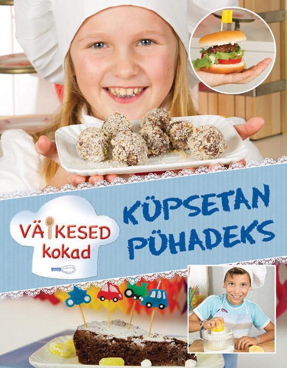 """Trükise """"Küpsetan pühadeks"""" kaanepilt. Cover picture of """"Küpsetan pühadeks""""."""