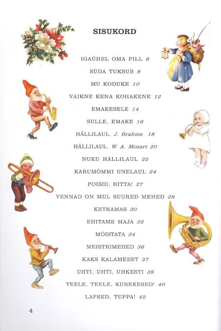 Meie lapse lauluraamat lk 4