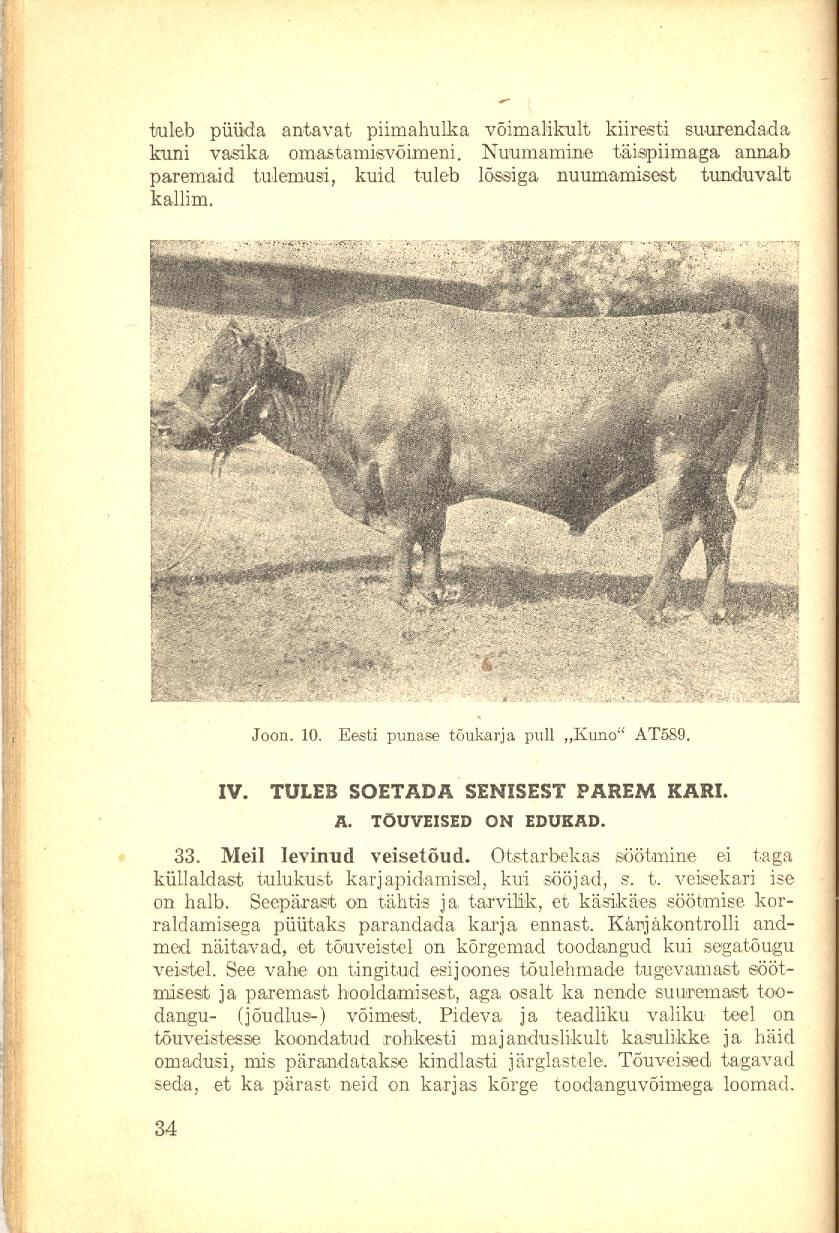 Veisepidamine ja piimatootmine lehekülg 34