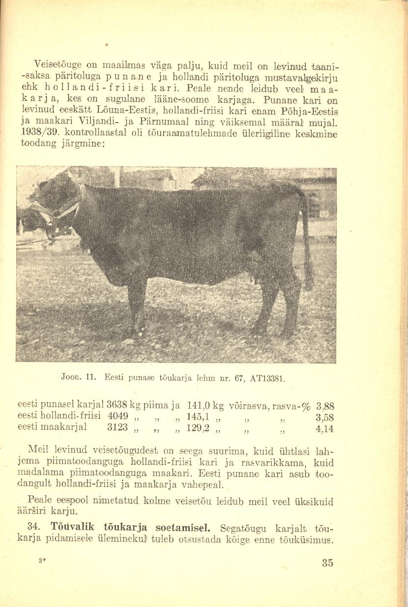 Veisepidamine ja piimatootmine lehekülg 35