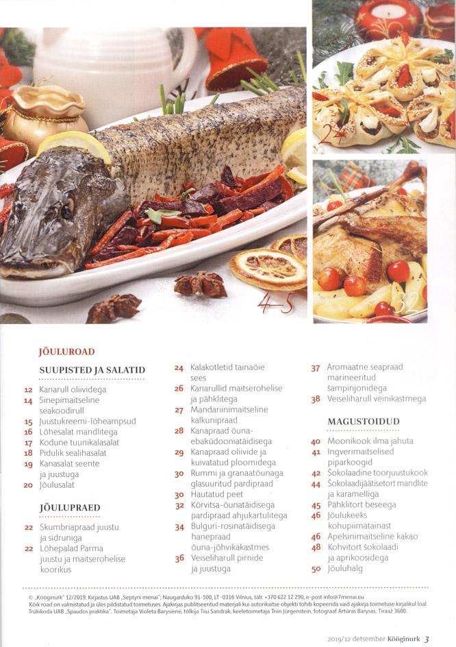 Kööginurk Jõuluroad retseptid nõuanded detsember 2019 lehekülg 3