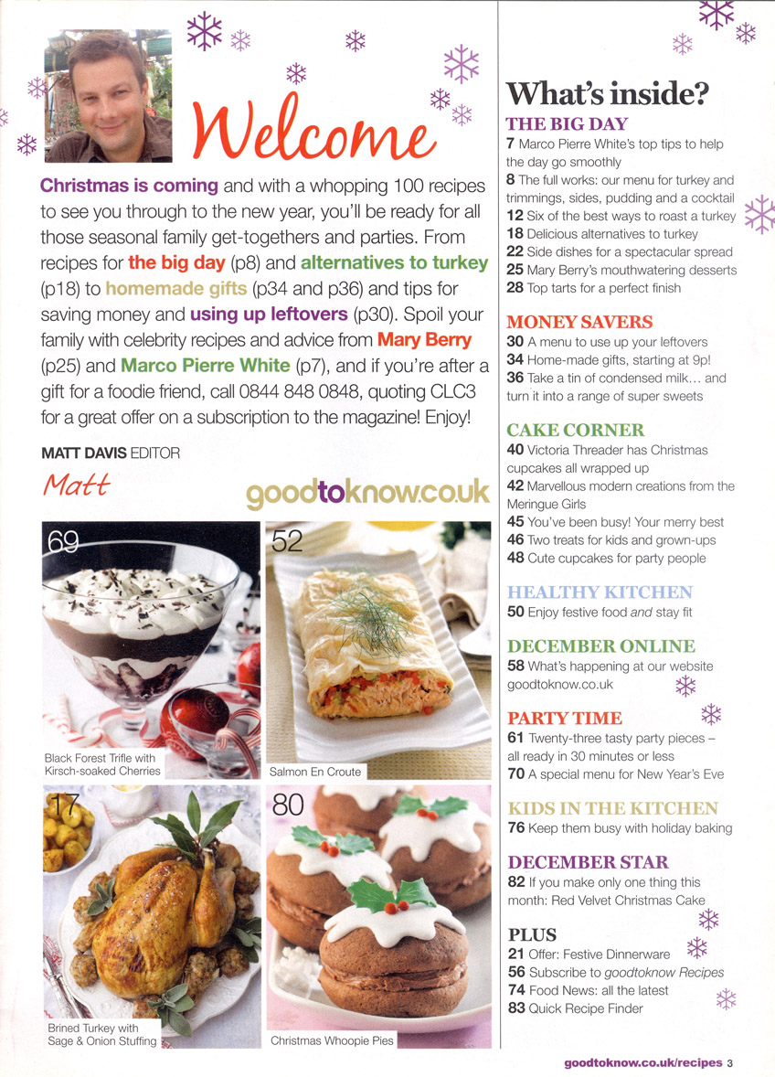Good to Know Recipes, December 2013 page 3