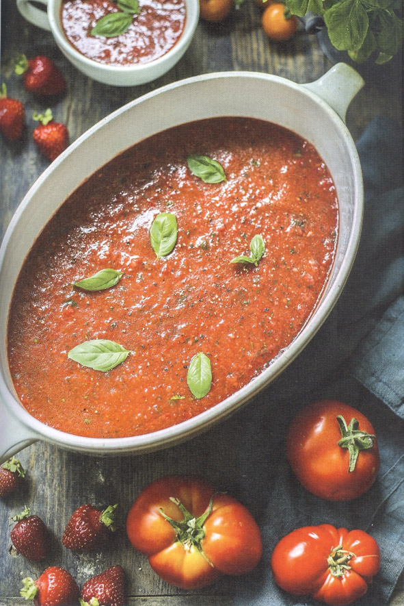 Tänapäevane eesti köök – Külm tomati-maasikasupp