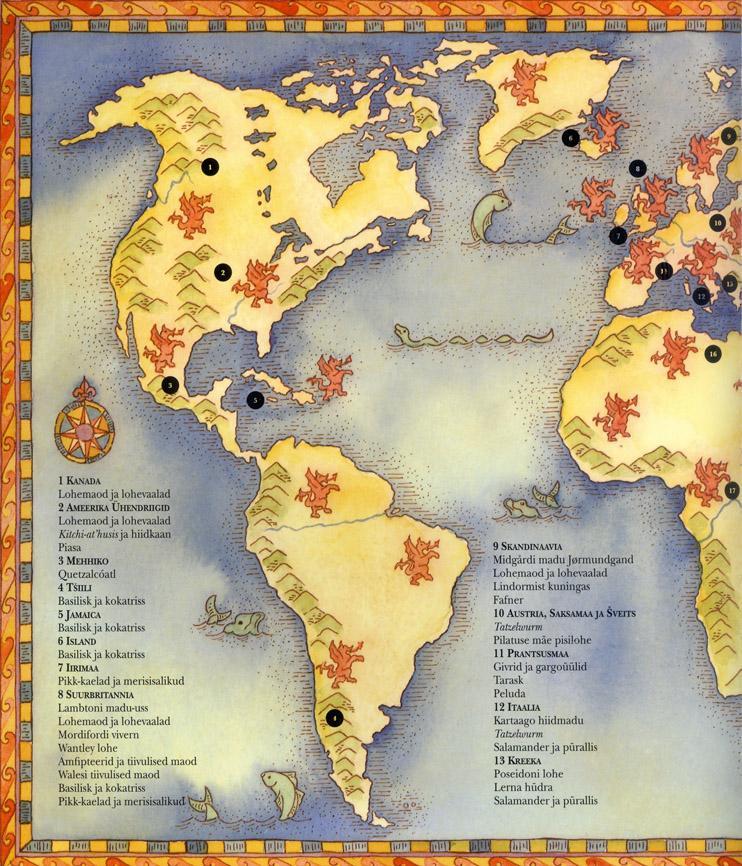 Lohed Ajalooline ülevaade lehekülg 6 Lohemaailma kaart
