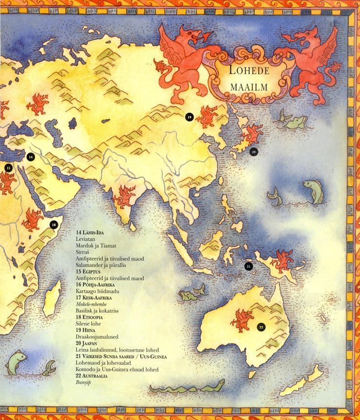Lohed Ajalooline ülevaade lehekülg 7 Lohemaailma kaart